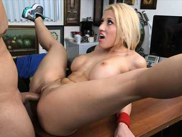 Teen girl Cristi Ann gets fucked on a casting desk