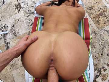 Hardcore fuck of a Latina brunette Valerie Kay outdoor