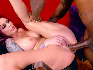 Bewitching babe Monique Alexander gets her pussy stuffed with black meat