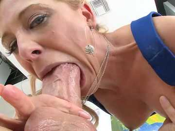 Ass to mouth blowjob is just in time for insatiable MILF Cherie Deville