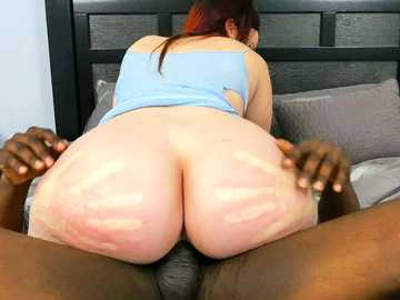 Ass Parade introduces redhead BBW Virgo Peridot twerking on big black cock